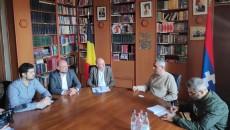 EAFJD-led Belgian delegation meet with Artsakh Foreign Minister Masis Mayilyan