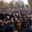 Demonstrators demand Nikol Pashinyan's resignation during an opposition protest on Nov. 21