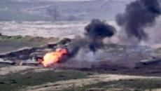 Wreckage of a Russian Mi-24 helicopter shot down by Azerbaijan in Armenia
