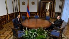 President Armen Sarkissian meets with Armenia's Human Rights Defender Arman Tatoyan