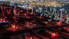 Candles light up the graves of our national heroes at Yerablur National Cemetery on Dec. 19