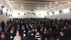 National Salvation Movement supporters in Vanadzor on Jan. 16