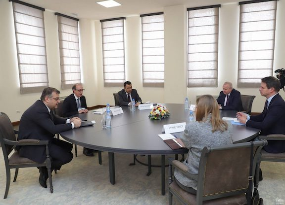 Foreign Minister Ara Aivazyan meets with ambassadors of OSCE Co-chairing countries