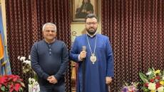 VIEW GALLERY: Congratulatory visits to Western Prelate Bishop Torkom Donoyan pictured here with Asbarez Editor Ara Khachatourian