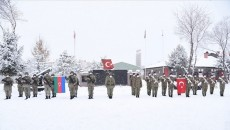 """Turkish and Azeri forces began """"Winter 2021"""" joint military drills in Kars on Feb.1"""