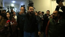 Young activists take protest to university campuses in Yerevan on Feb. 24