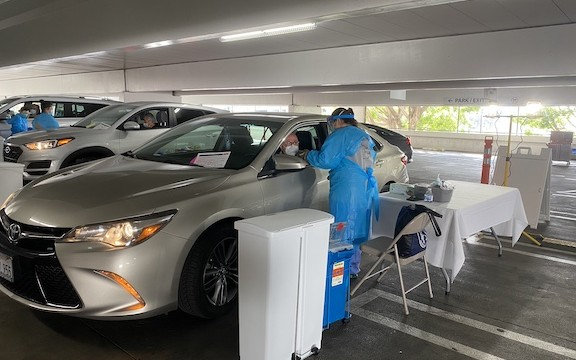 CHA HMPC's drive-through vaccination clinic allows individuals to receive a shot without having to walk into a clinic