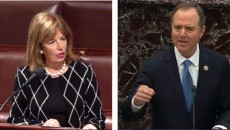 Representatives Jackie Speier (left) and Adam Schiff