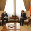Iran's Foreign Minister Javad Zarif (left) meets his Armenian counterpart Ara Aivazyan in Yerevan on Jan. 27