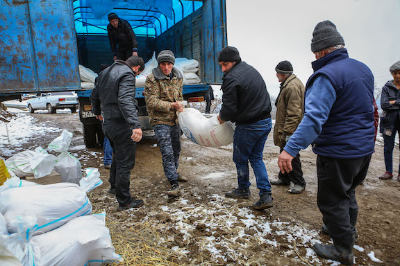 More than 150 families in three villages in Artsakh's Martuni region have received desperately needed humanitarian assistance packages, thanks to a recent partnership between the Tufenkian Foundation and the Yerevan-based Izmirlian Foundation.
