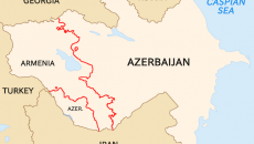 The Soviet Armenia and Azerbaijan borders