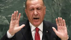 Turkey's President Recep Tayyip Erdogan addresses the 74th session of the United Nations General Assembly at U.N. headquarters in New York in Sept. 2019. (Reuters photo)