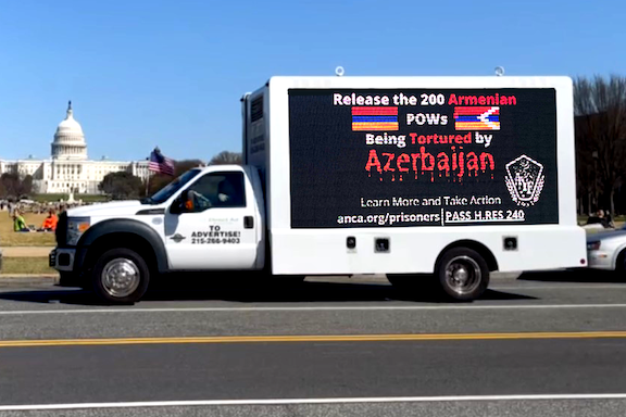 """VIEW GALLERY: The """"Freedom Caravan"""" digital truck at the U.S. Capitol (Photo by Alex Manoukian)"""