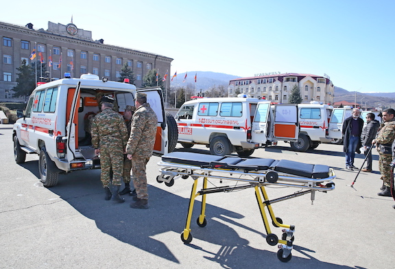 Support Our Heroes donated an additional five ambulances to the Armenian Armed Forces on Mar. 6