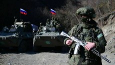 Russian peacekeeping forces stationed in Artsakh