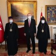 Turkish President Recep Tayyip Erdogan on a recent visit to the Armenian Patriarchate of Istanbul