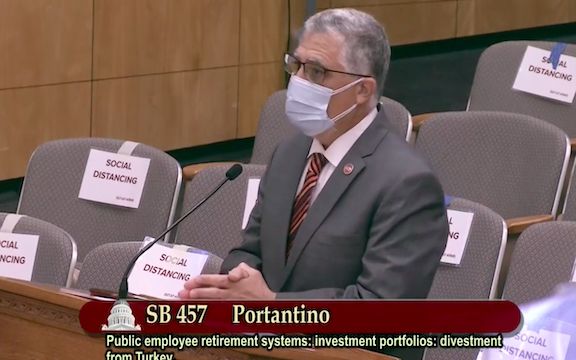 California State Senator Anthony Portantino discussing Senate Bill 457 on April 19