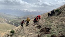 ATP team members planting seeds in Aznavadzor, Lori Region of Armenia