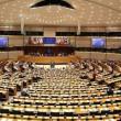 The European Parliament chambers