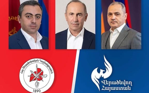 ARF announces election alliance with former President Robert Kocharian and the Reborn Armenia Party